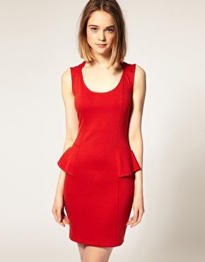 Peplum red dress- on sale for $32 - Asos.com- click here to buy