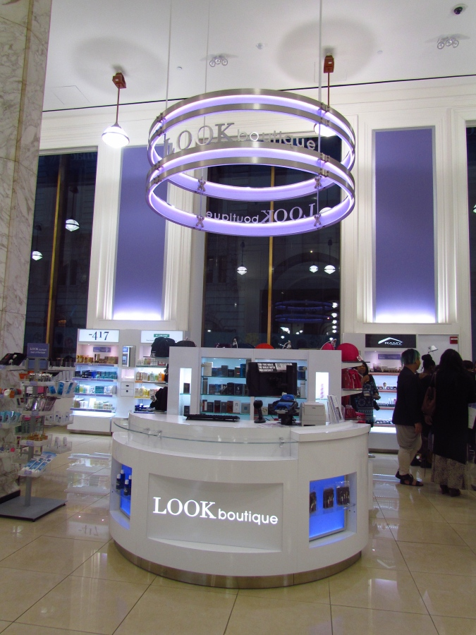 The LOOK BOUTIQUE inside Duane Reade, where you can get your nails done, makeup, and even blowouts! Gives new meaning to the word, drugstore
