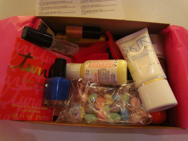 My Self created box courtesy of the Birchbox lounge at NYFW Spring 13