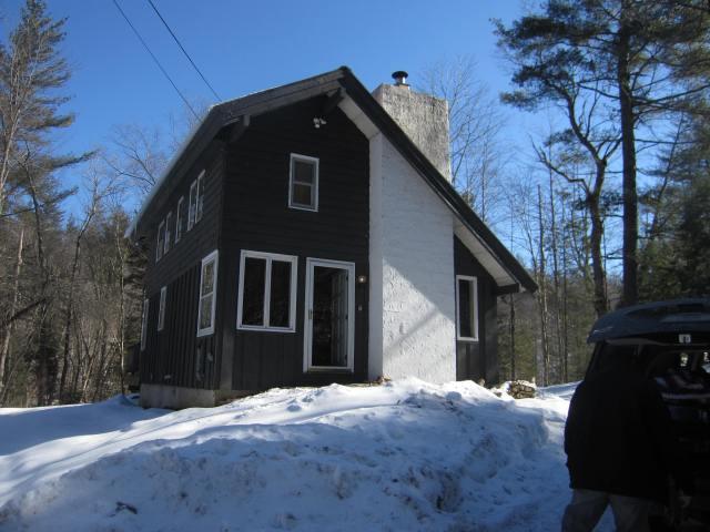 Our cute cabin in Stratton, Vermont